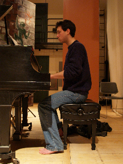 RFH III at the piano